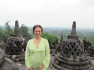 Happy Birthday! At Borobudur, Java