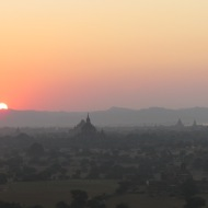 Sunset from Nan Myint Tower, Bagan, Burma