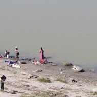 Laundry in the Irrawaddy River, Bagan, Burma
