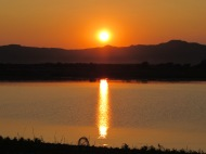 Sunset at the Irrawaddy River, Bagan, Burma