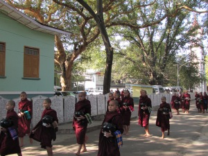 Lunchtime at Mahagandayon Monastery, Mandalay, Burma
