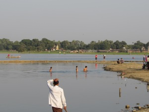 View from U Bein Bridge, Mandalay, Burma