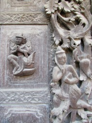 Detail of Carving at Shwenandaw Monastery, Mandalay, Burma