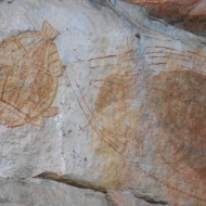 Wall Painting at Ubirr, Australia