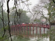 Huc Bridge, Hoan Kiem Lake, Hanoi