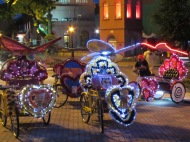 Tuk Tuks at Night, Malacca, Malaysia