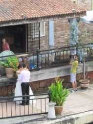 Posing Bride and Groom, Malacca, Malaysia