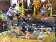 Offerings at Wat Phnom. Pnhom, Penh, Cambodia