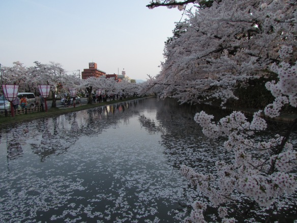 Dusk at Hirosaki, Japan