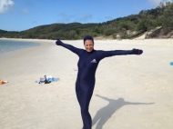 Ready for a snorkel at the Whitsundays