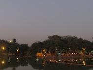 Kandawgyi Lake at Night, Yangon, Burma