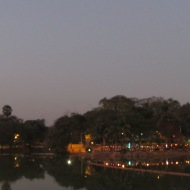 Kandawgyi Lake at Night, Yangon, Burma
