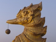 Detail of Karaweik, Yangon, Burma