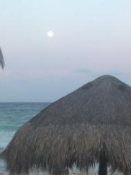 Moon at Tulum Beach, Mexico