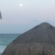 Moon at Tulum Beach, Mexico