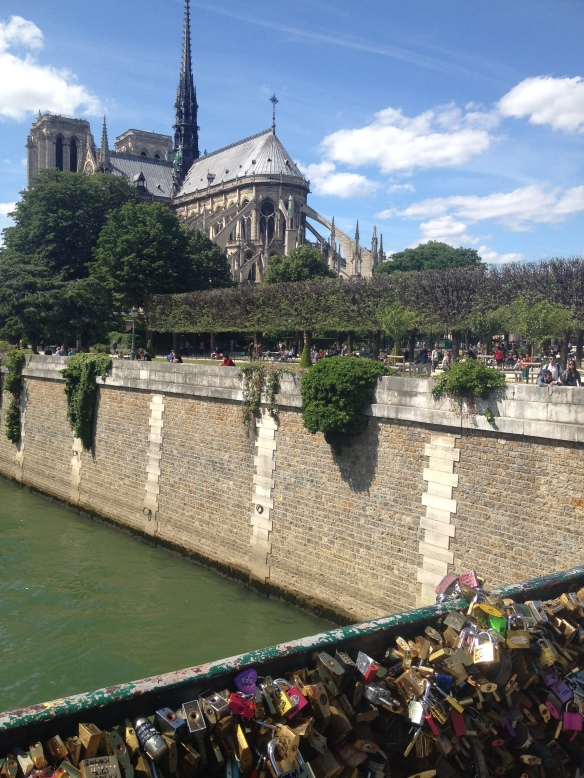 Notre Dame from Pont de Arts, Paris